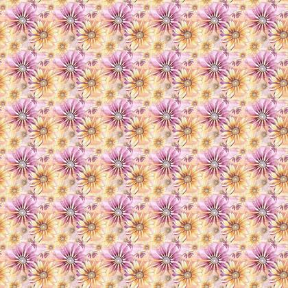 Fabric: Yellow and Pink Coneflowers