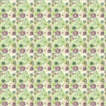 Fabric: Green and Pink Coneflowers