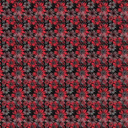 Fabric: Red Coneflowers