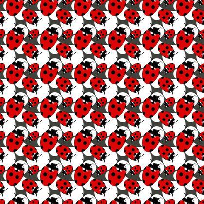 Fabric Cute Ladybirds Pattern