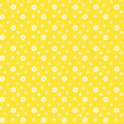 Fabric Summer Daisy Flowers Scribble Pattern