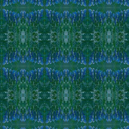 Iris fabric printing