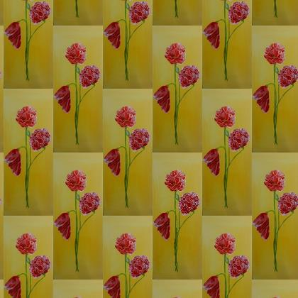 poppies fabric print