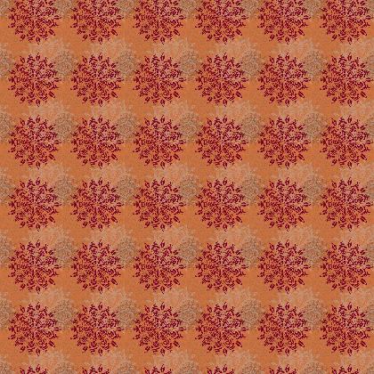 Mandala (Tangerine) - Luxury Fabric