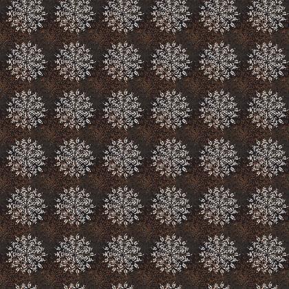 Mandala (Deep Chestnut) - Luxury Fabric