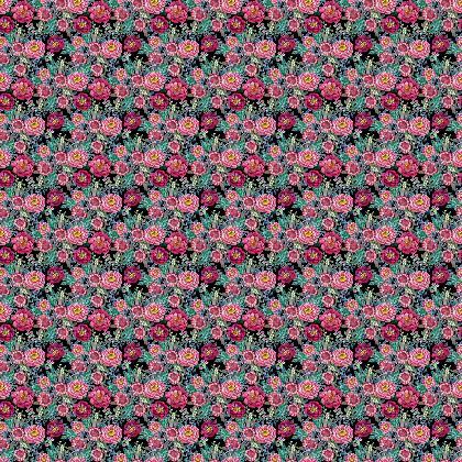 Dark Floral fabric // burgundy, wine & pink flowers & berries in watercolour