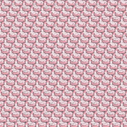 """Fabric """"See you later, Alligator! pink/brown"""