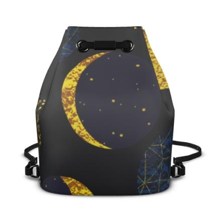modern moon bucket backpack