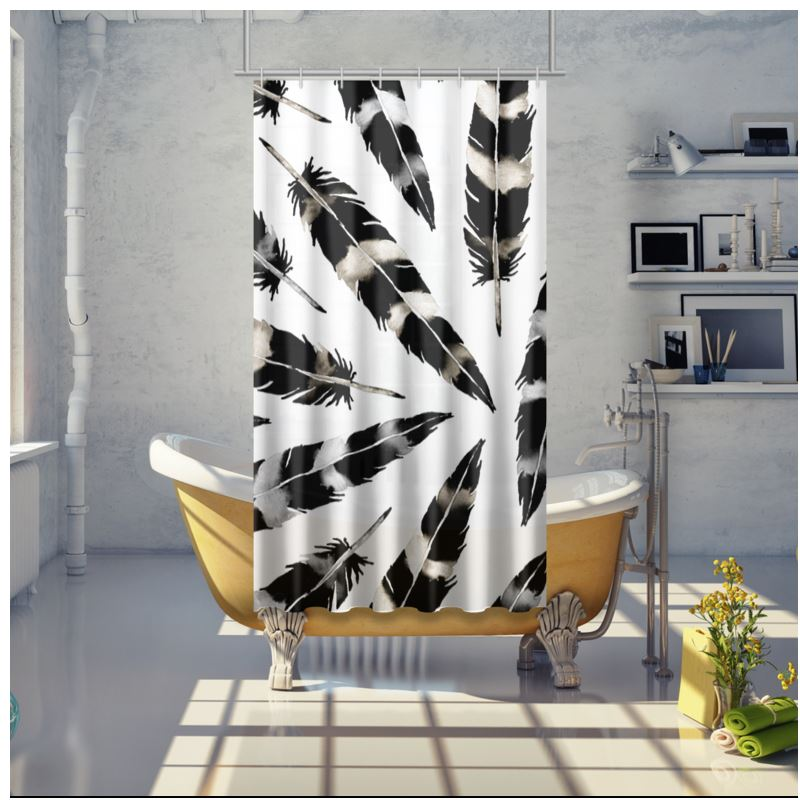 Viking Feather Shower Curtain