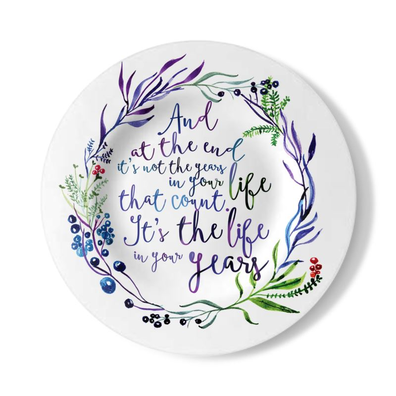 Birthday Quote | Birthday Quote Decorative Plate