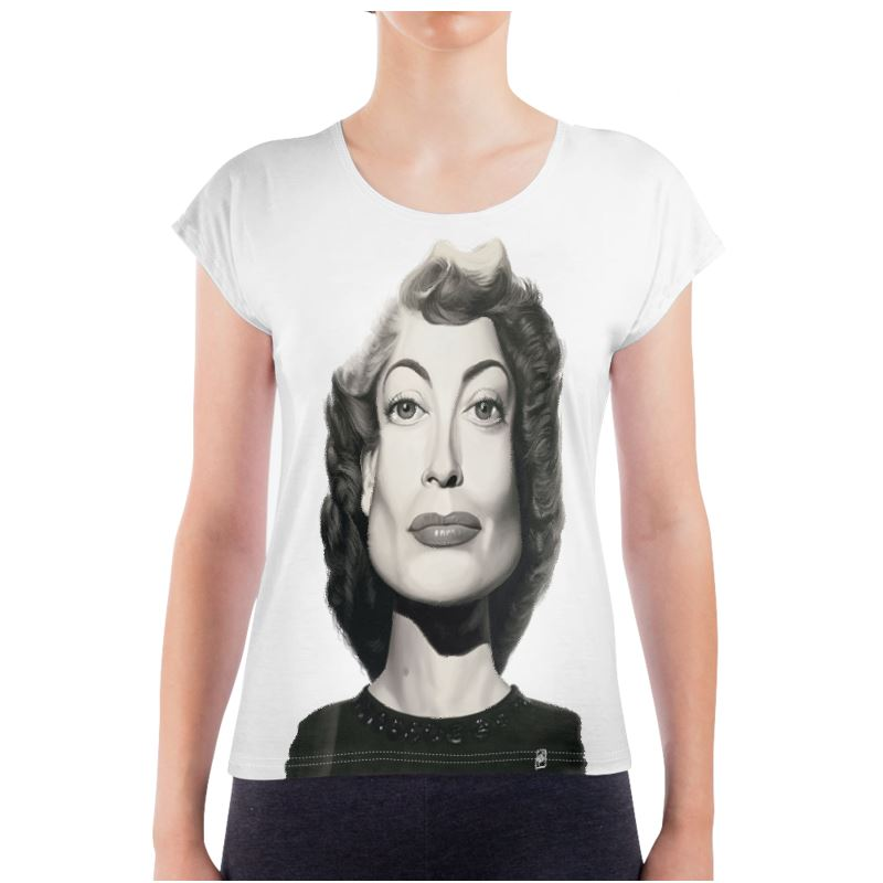 Joan Crawford Celebrity Caricature Ladies T Shirt