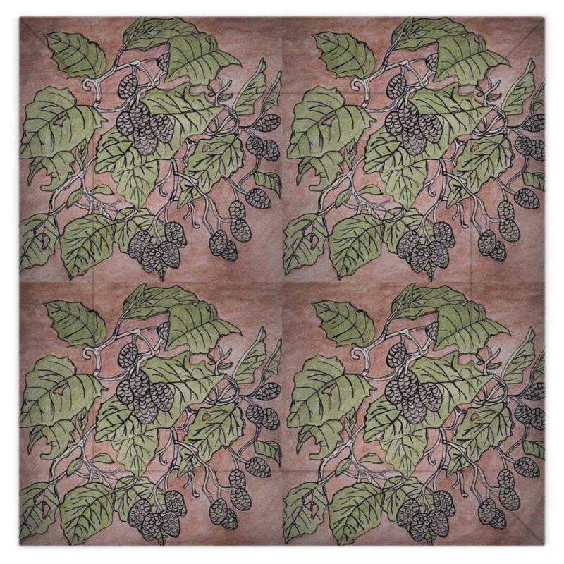 Alder Leaf Duvet Cover In Pink And Green