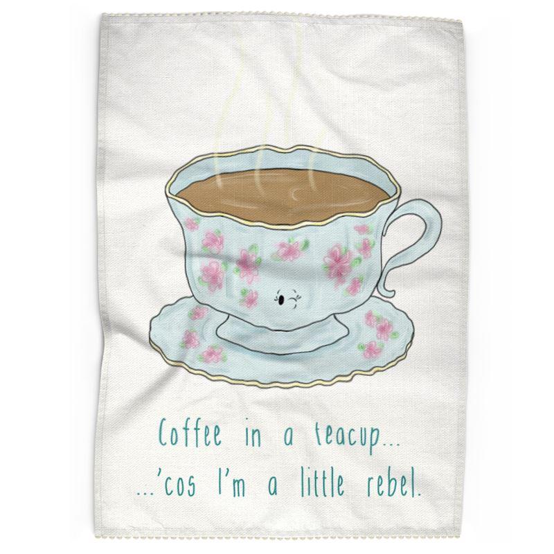 'Coffee in a tea cup   ' Tea Towels
