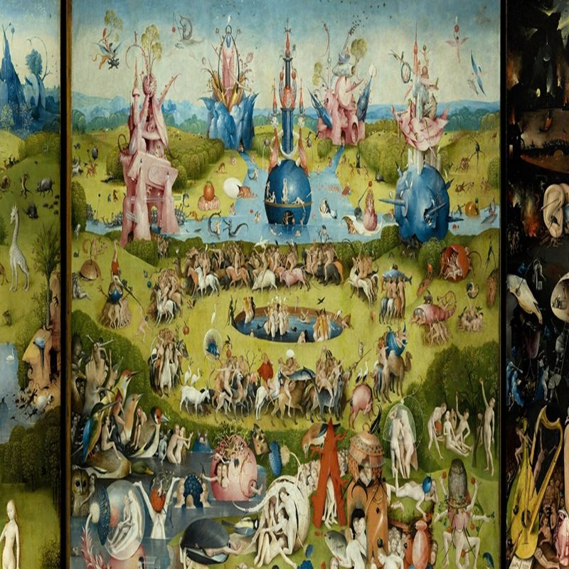 Tray: The Garden of Earthly Delights by Hieronymus Bosch ...Bosch Garden Of Earthly Delights Outside