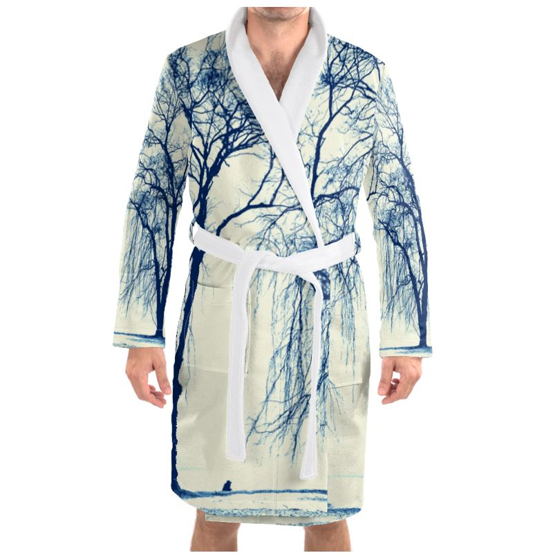 Blue Trees Dressing Gown