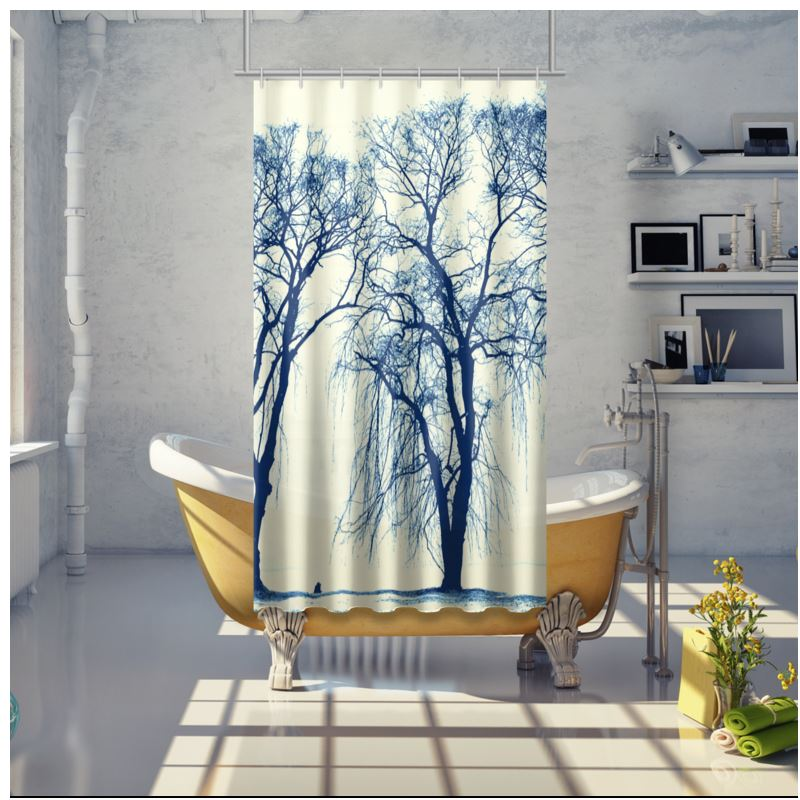 110444 Blue Trees Shower Curtain 0jpegcache6