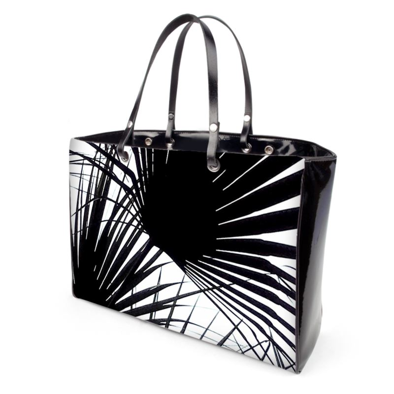 Black And White Tropical Leaves Black And White Handbags The best selection of royalty free black and white tropical leaves vector art, graphics and stock illustrations. contrado