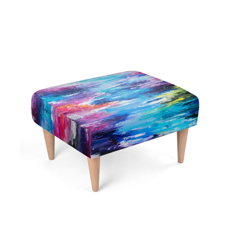 The Colourful River Footstool