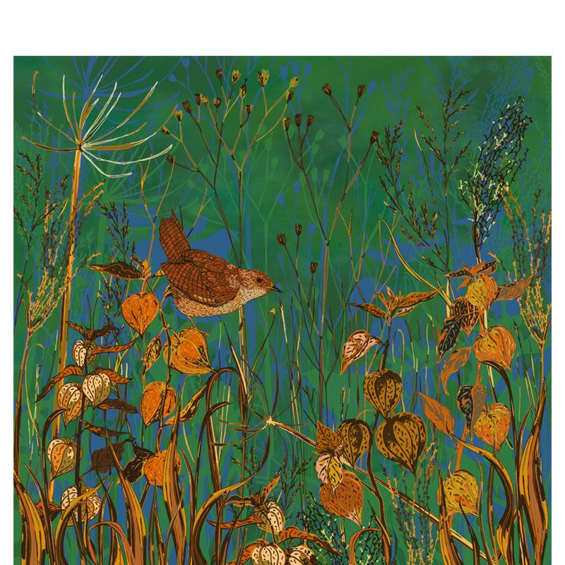 Wren And Physalis Fabric Placemat