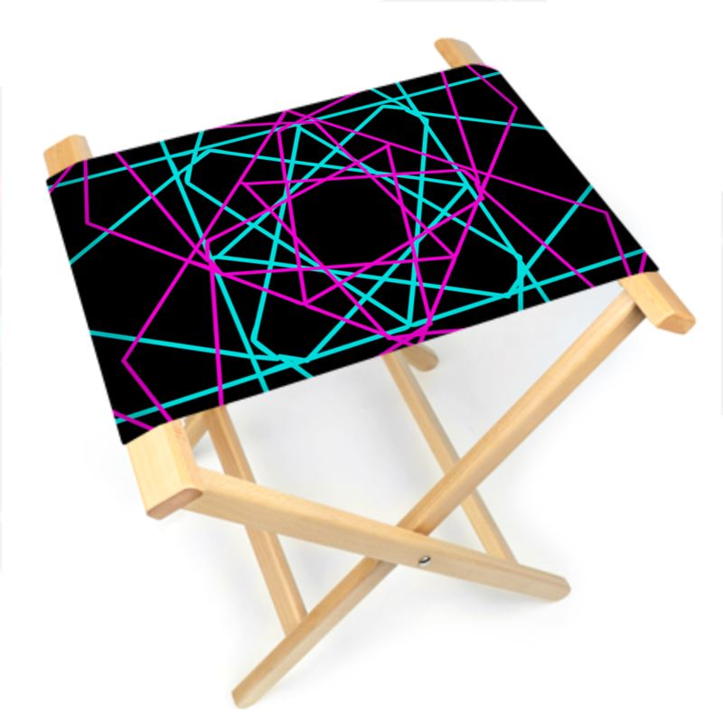 Groovy Geometric Design Modern Folding Stool Chair Unemploymentrelief Wooden Chair Designs For Living Room Unemploymentrelieforg