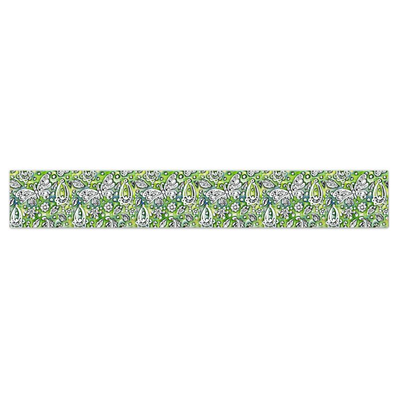 Butterflies Wallpaper Border In Green And White