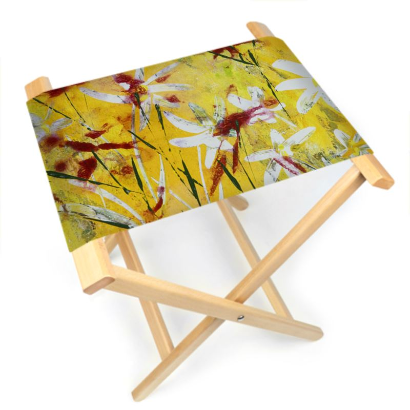 Fabulous Daisy Flower Folding Stool Chair Unemploymentrelief Wooden Chair Designs For Living Room Unemploymentrelieforg