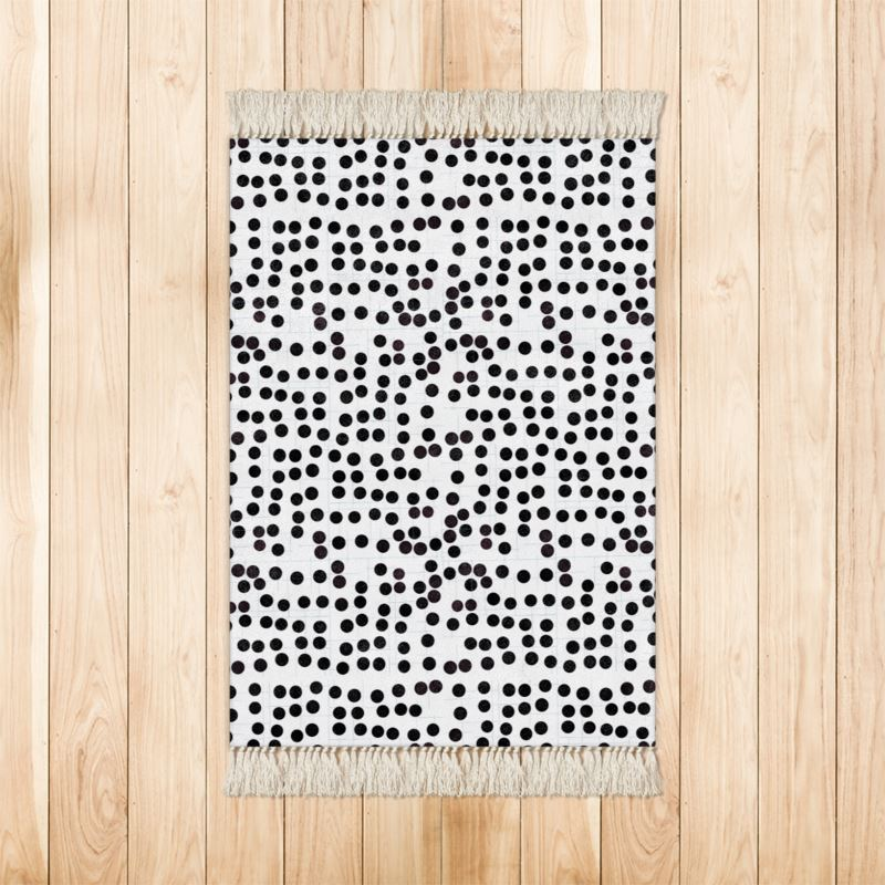 Spot On Rugs In Black And White