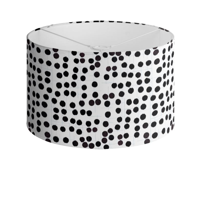 Spot On Drum Lamp Shade In Black And White