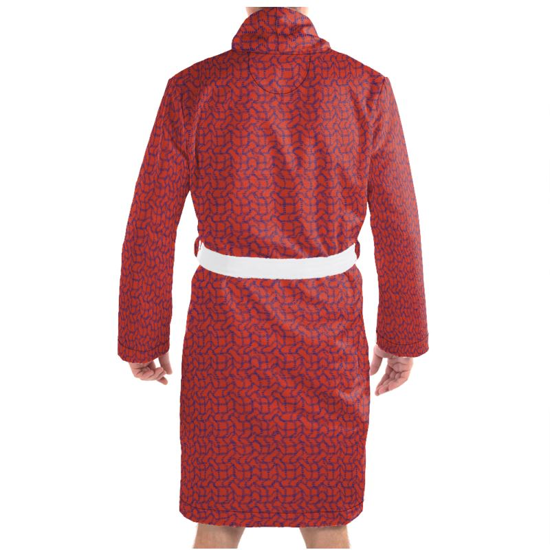 Wriggly Bits Dressing Gown in Red