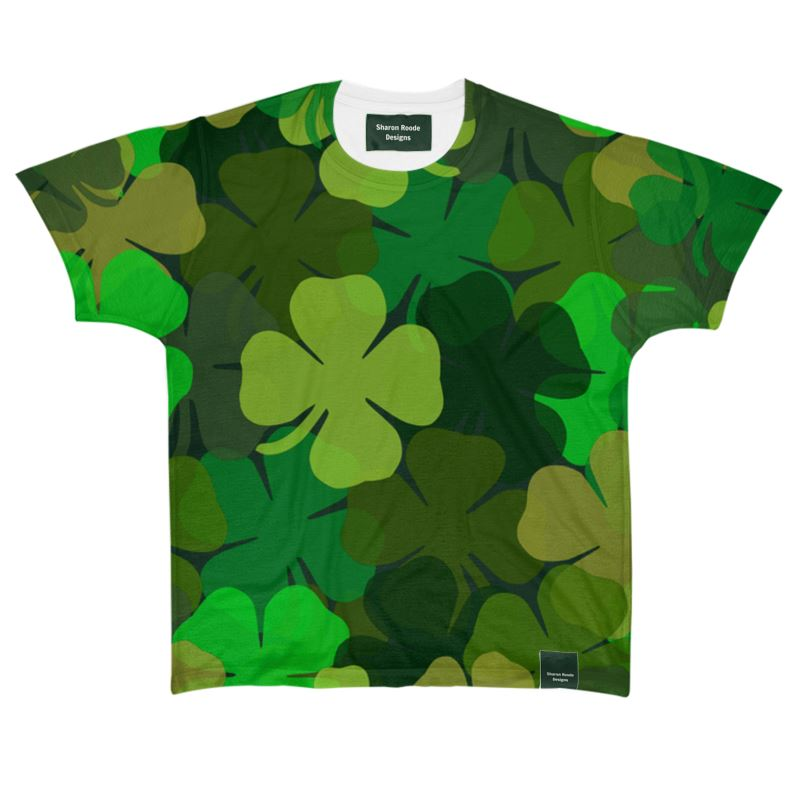 St Patrick's Day Shamrock Camouflage All Over Print T Shirt