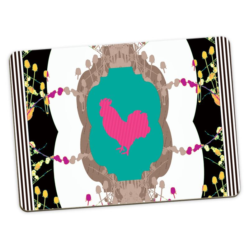 Fabulous Fowl Placemats Set Of 4 Large