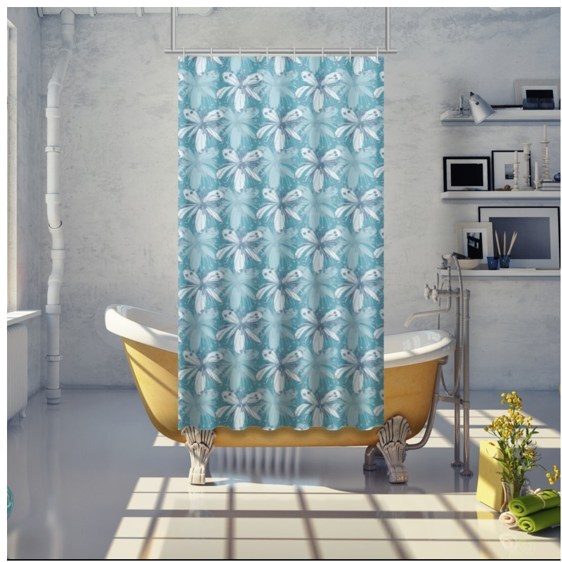 28609 Shower Curtain In Lime Flower 0jpegcache6