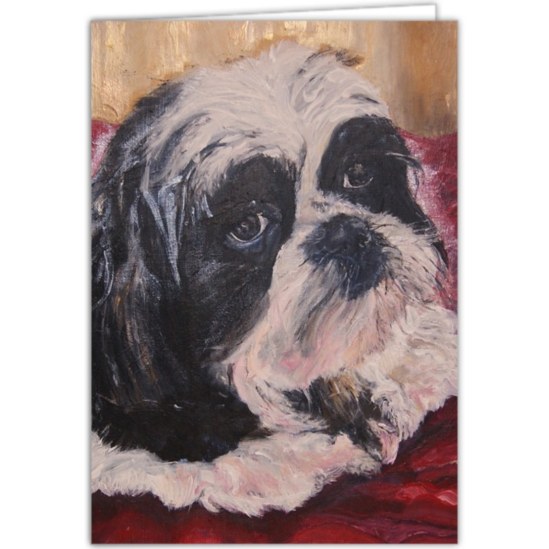 Personalised Little Prince Hugo the Shih Tzu Fine Art Occasions Card ...
