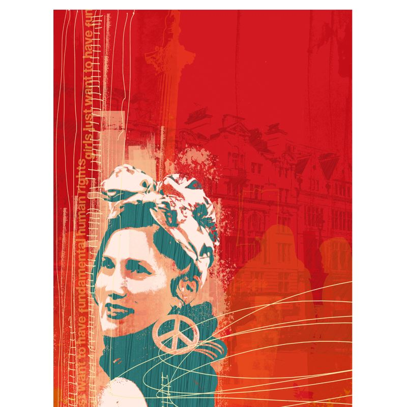 ' Ladies T Shirt - Women's Power in Red