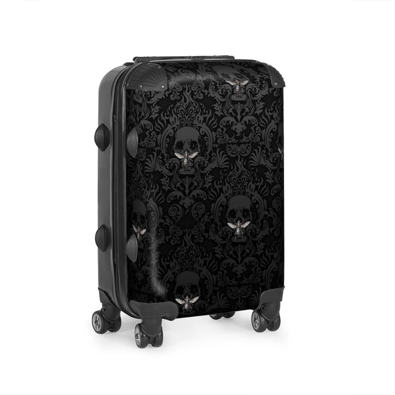 Skull And Vintage Bee Suitcase