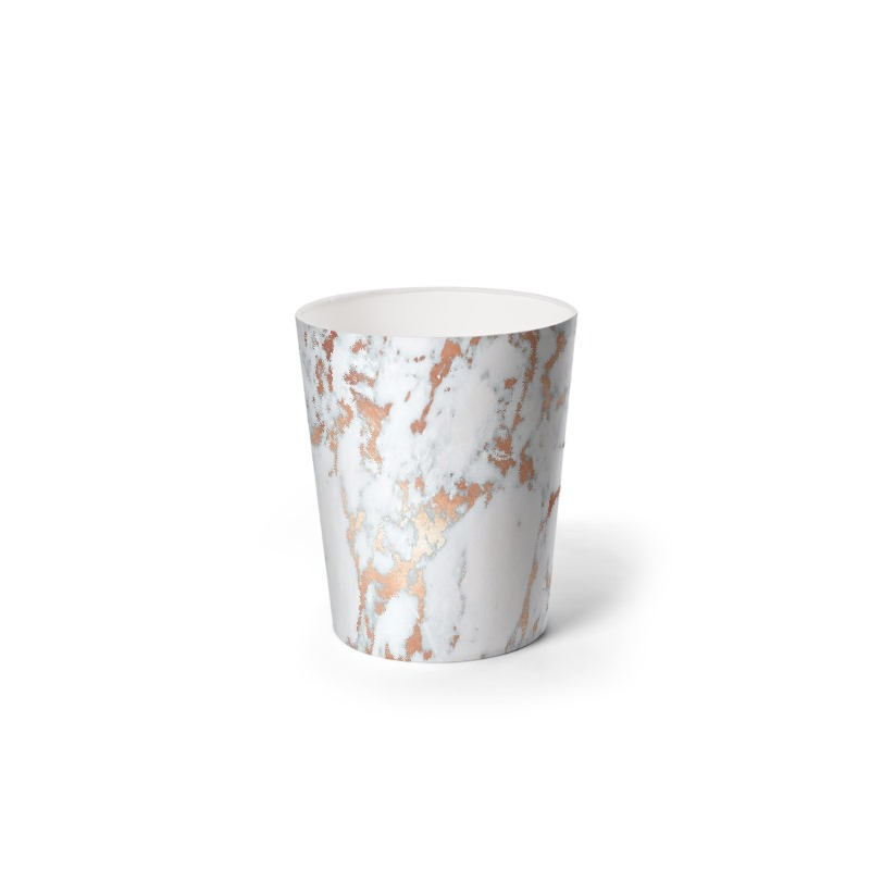 Rosegold marble waste paper bin for Marble bathroom bin
