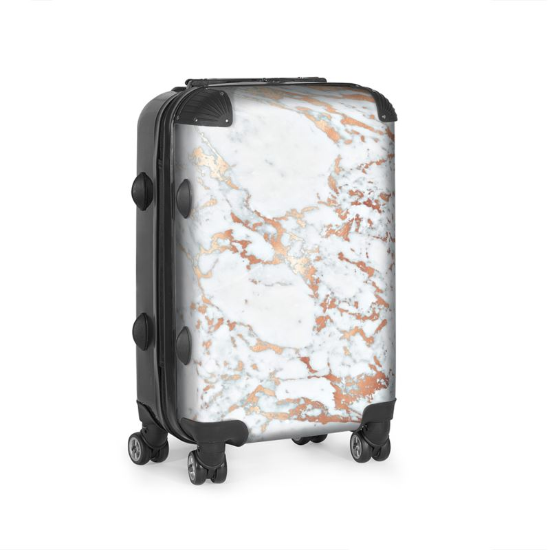 Marble Rosegold Suitcase