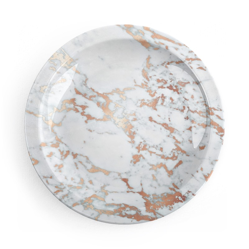 Rosegold Marble Party Plates