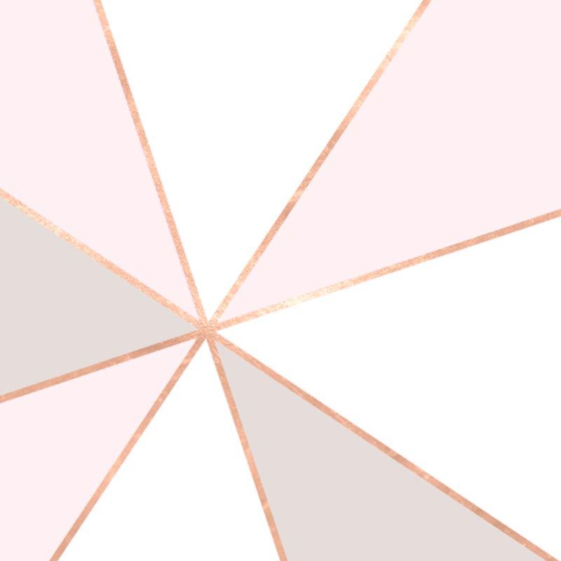 Geo Sunburst Rosegold Pastel Luxury Cushions