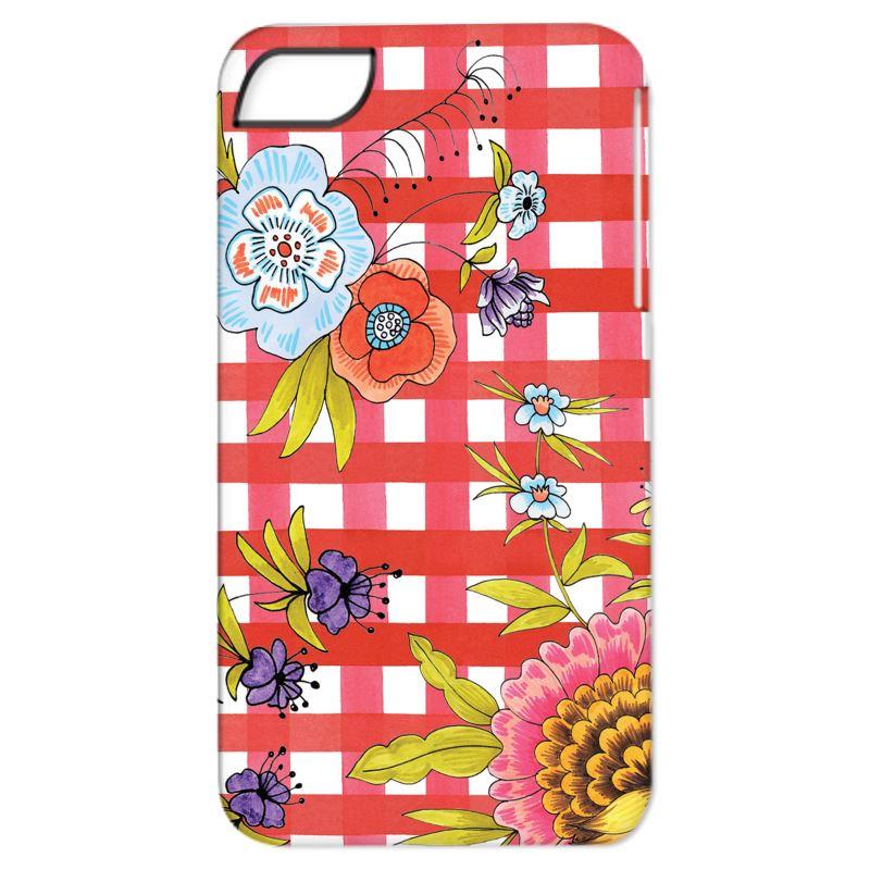 Orange Gingham & Florals iPhone 6/ 6 Plus Case