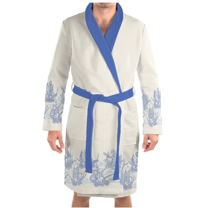 Blue Ships Dressing Gown