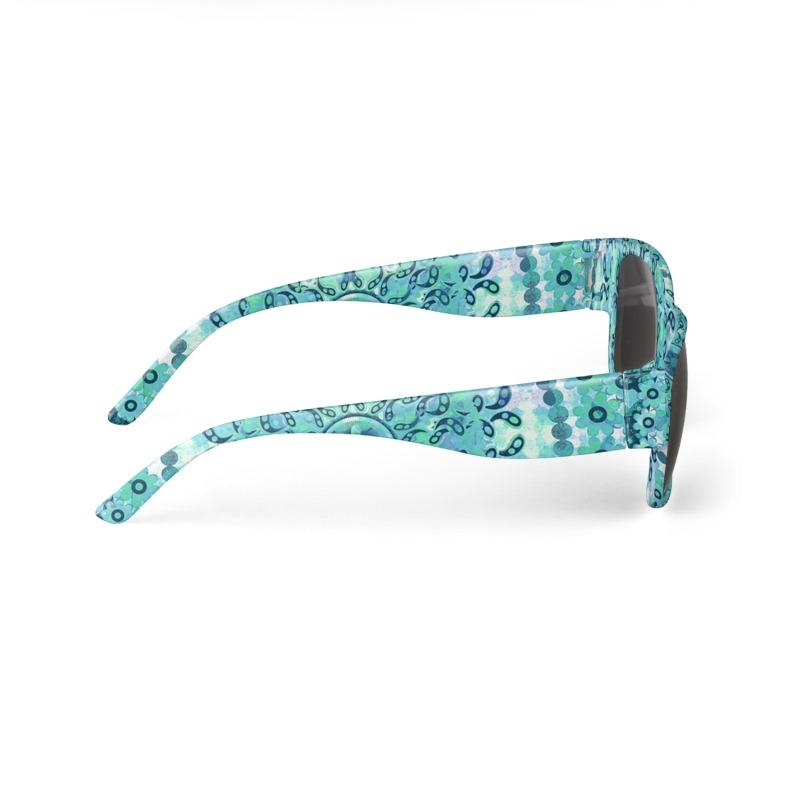 Aqua Mosaic Mandala Sunglasses