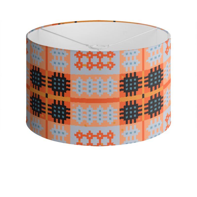 Orange Drum Lamp Shade