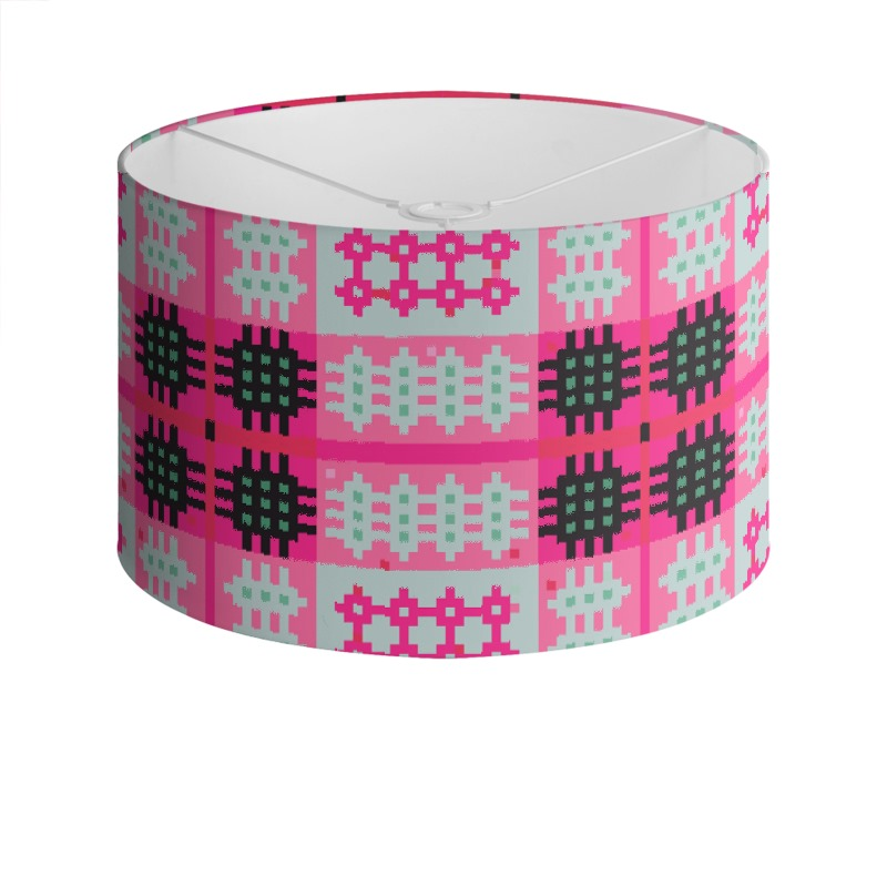 Pink and grey drum lamp shade aloadofball Image collections