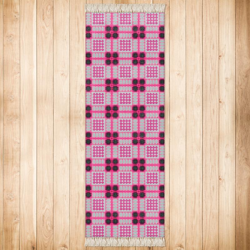 pink and black rug. Black Bedroom Furniture Sets. Home Design Ideas
