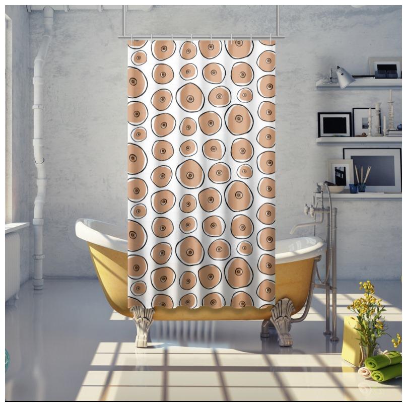 Boob Printed Shower Curtain
