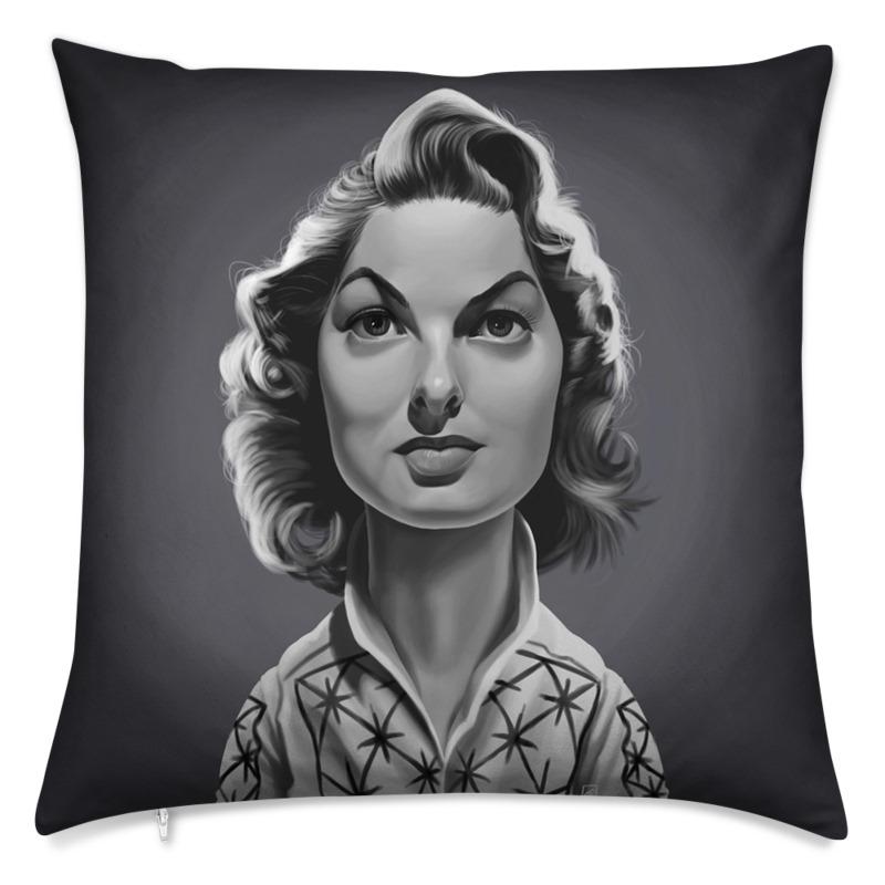 Ingrid Bergman Celebrity Caricature Cushion