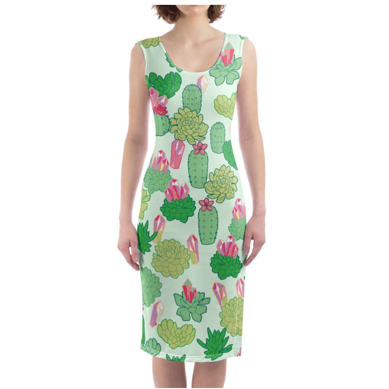Crystal Cactus Bodycon Dress
