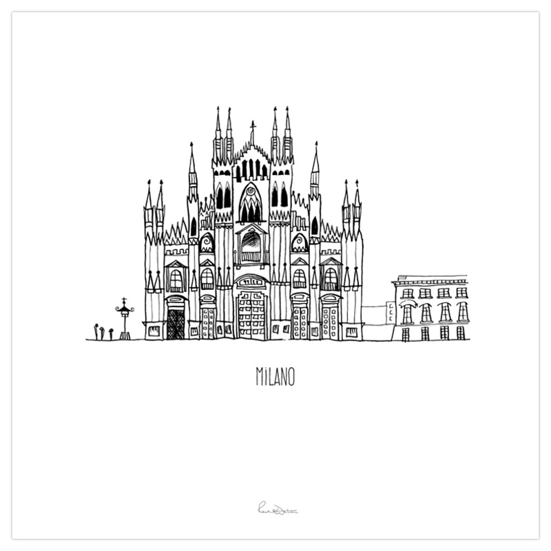 Milano art print for Art design milano