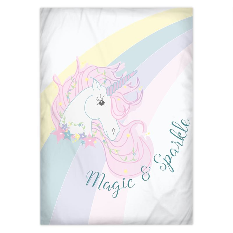 'Magical Unicorn Single Duvet Cover Set